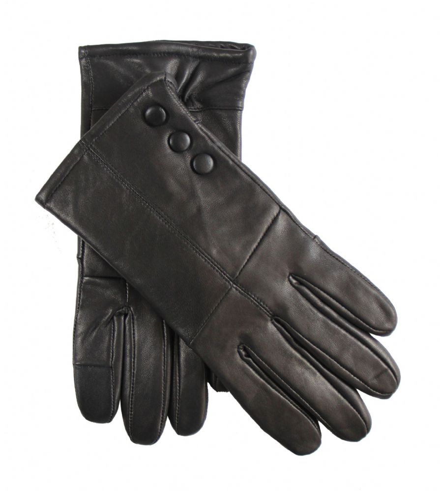 Ladies women touch Genuine leather gloves WG6599